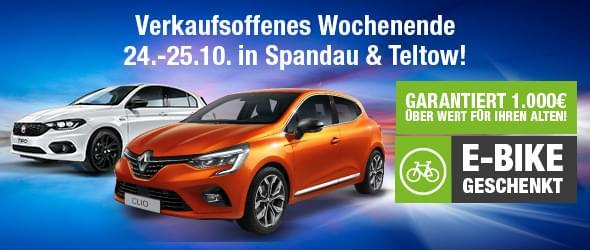 Verkaufsoffenes Wochenende in Spandau und Teltow
