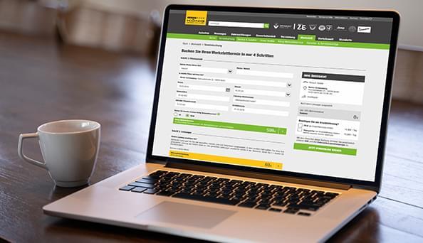 Terminbuchung ganz einfach online vom Sofa