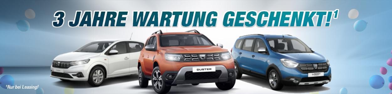 3 Jahre Wartung und Garantie bei Dacia geschenkt