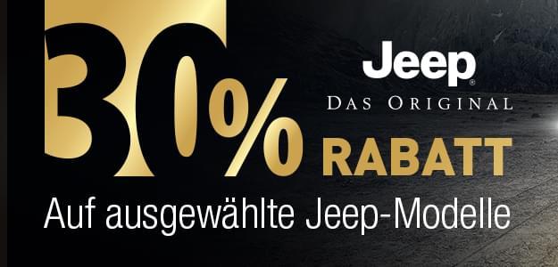 Jeep Modelle mit 30% Rabatt