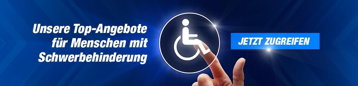Unsere Angebote für Schwerbehinderte ab GdB 50