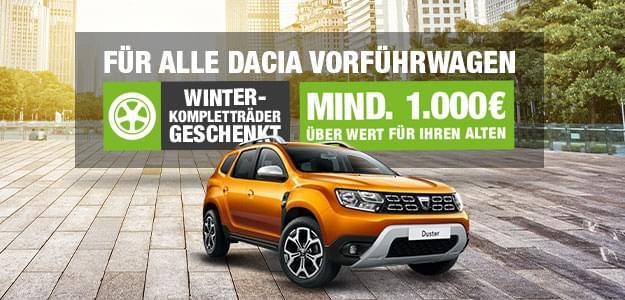 Winterkompletträder geschenkt bei allen Dacia Vorführwagen